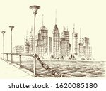 skyscraper panorama  city view... | Shutterstock .eps vector #1620085180