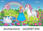 beautiful princess with white... | Shutterstock .eps vector #1620087340