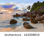 Seychelles Tropical Beach At...