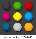 set of blank colorful round... | Shutterstock .eps vector #162009443