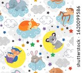 seamless pattern with cute... | Shutterstock .eps vector #1620099586