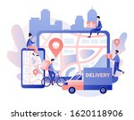 online delivery service concept.... | Shutterstock .eps vector #1620118906