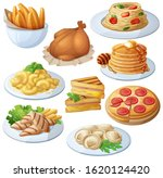 set of food icons isolated on... | Shutterstock . vector #1620124420