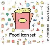 popcorn colored icon. food...   Shutterstock . vector #1620151273