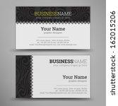 business card set. vector...   Shutterstock .eps vector #162015206