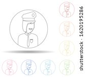 avatar of police woman in multi ...