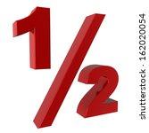 half fraction | Shutterstock . vector #162020054