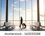 businessman in airport and... | Shutterstock . vector #162020288
