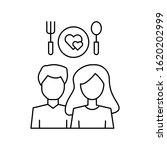 man woman food love heart icon. ...