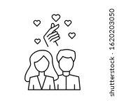 man woman korea love hand icon. ...