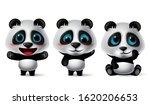 panda animal characters vector...   Shutterstock .eps vector #1620206653