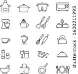 kitchen tools thin line icons... | Shutterstock .eps vector #1620211993
