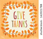 cute vintage thanksgiving day... | Shutterstock .eps vector #162021788