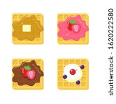waffle vector illustration with ...   Shutterstock .eps vector #1620222580
