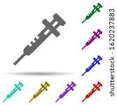 laboratory  syringe in multi...