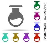 laboratory  flask in multi...