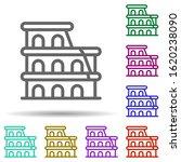 coliseum  italy in multi color...
