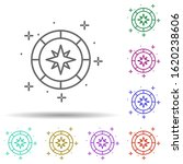 compass in multi color style...