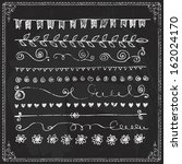 hand drawn vector line border... | Shutterstock .eps vector #162024170