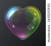 soap bubble heart isolated on a ...