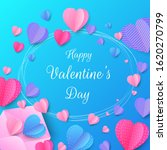 paper hearts valentine's day...   Shutterstock .eps vector #1620270799