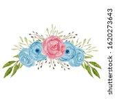 watercolor rose flower bouquet. ... | Shutterstock . vector #1620273643