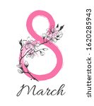8 march womens day greeting...   Shutterstock .eps vector #1620285943