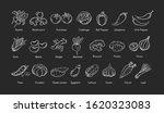 hand drawn vegetable set vector ... | Shutterstock .eps vector #1620323083