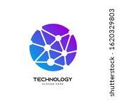 modern technology logo design... | Shutterstock .eps vector #1620329803