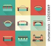 vector bridge icon set | Shutterstock .eps vector #162033869