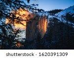Yosemite Firefall At Sunset ...