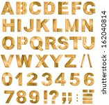 golden or brass metal alphabet... | Shutterstock . vector #162040814