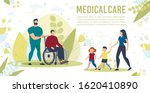 medical care for disabled... | Shutterstock .eps vector #1620410890
