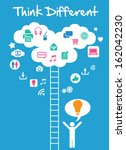 think difference   great idea | Shutterstock .eps vector #162042230
