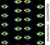 seamless pattern of eyes....   Shutterstock . vector #1620433783