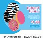 modern flat design donut deal...