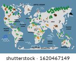 great world map animals and... | Shutterstock . vector #1620467149