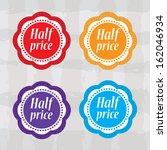 half price stickers with...   Shutterstock . vector #162046934