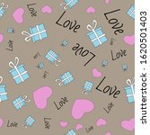 seamless festive pattern with...   Shutterstock .eps vector #1620501403