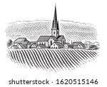 european village vineyard... | Shutterstock .eps vector #1620515146