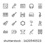 musical instruments flat line... | Shutterstock .eps vector #1620540523