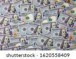 background of 100 dollar bills. ... | Shutterstock . vector #1620558409