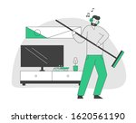male character in headset...   Shutterstock .eps vector #1620561190