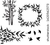 set of tropical bamboo elements.... | Shutterstock .eps vector #1620562573