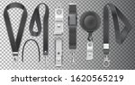 black lanyards with metal claw...   Shutterstock .eps vector #1620565219