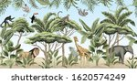 vintage tree  palm tree  banana ... | Shutterstock .eps vector #1620574249