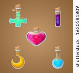 magic potions game asset vector ...