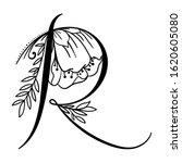 letter r. vector hand drawn...   Shutterstock .eps vector #1620605080