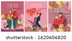 valentine's day on greeting...   Shutterstock .eps vector #1620606820