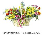 Bouquet From Flowers In The...